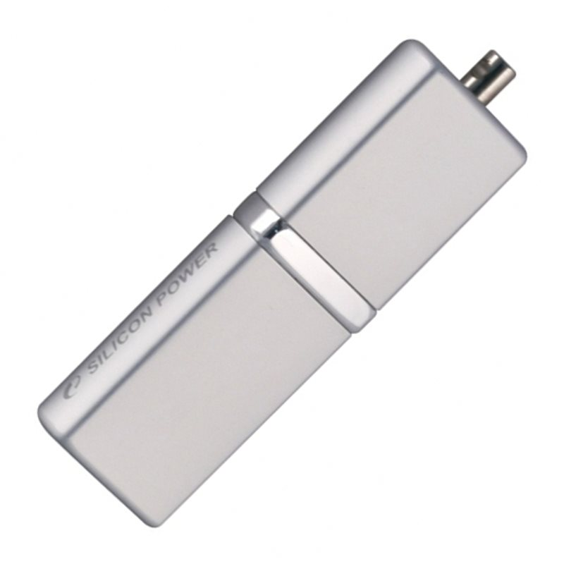 Флеш-накопитель Silicon Power Luxmini 710 8Gb (SP008GBUF2710V1S), USB 2.0, серебристый