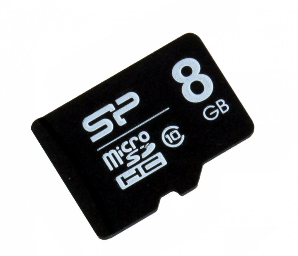 Карта памяти Silicon Power microSDHC 8GB (SP008GBSTH010V10) Class 10