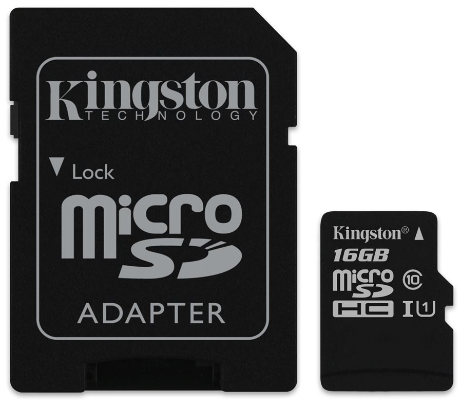 Карта памяти microSDHC 16GB Kingston microSDHC (UHS-I U1 Canvas Select) Class 10